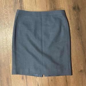 J. Crew The Pencil Skirt in Gray-Lavender Wool
